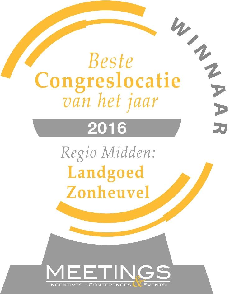 Landgoed Zonheuvel congreslocatie van het jaar 2016
