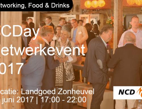 NCDay netwerkevent; Écht netwerken, food en drinks op 22 juni